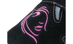 Udobni natikači art. 112 črna roza