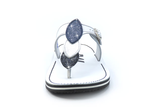 Elegantne japonke art. 756 bela srebrna modra