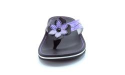 Usnjene japonke art. 759 vijolična črna