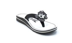 Usnjene japonke art. 760 črna bela