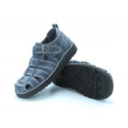 Usnjeni sandali art. 900 siva