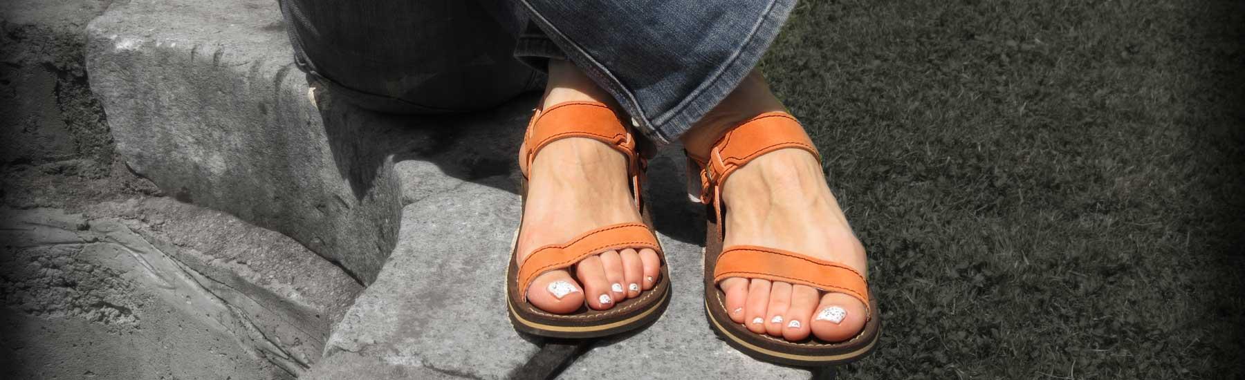 Ženski usnjeni sandali art 953 za vsak dan.