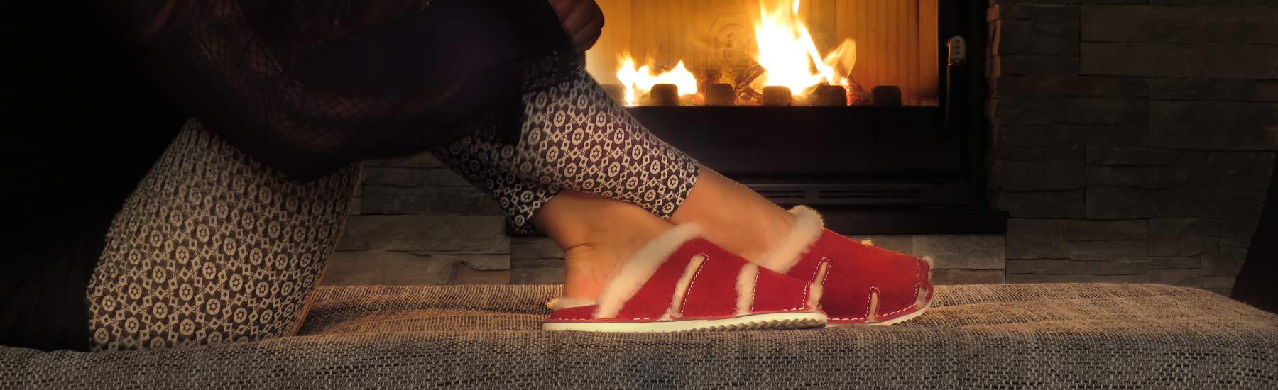 Topli krzneni copati za hladne zimske dni